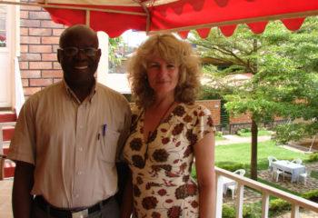 Agnes Dinkelman with Hon. Makuba